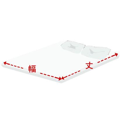 端から端までを直線距離で計測して下さい