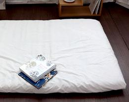 オーガニックコットン超長綿サテン敷き布団カバー